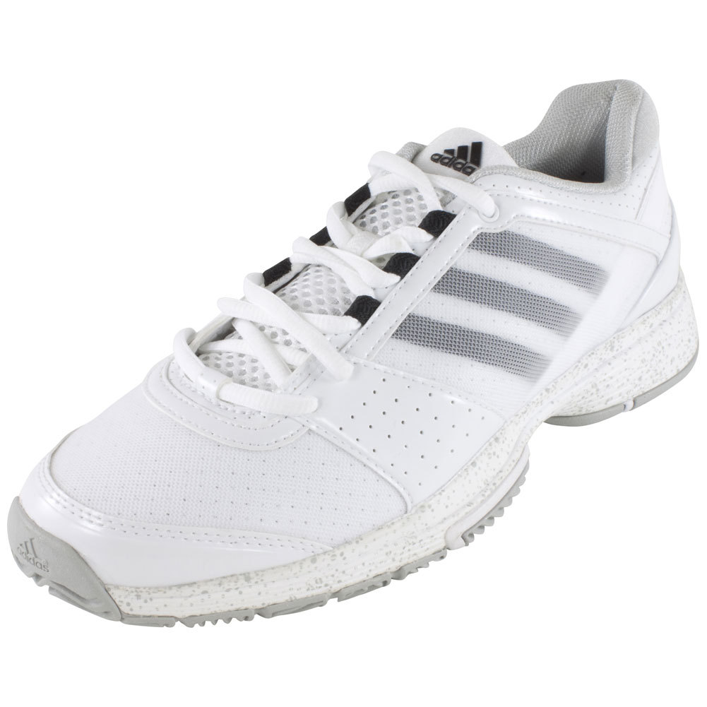 Women's Barricade Team 3 Tennis Shoes Core White And Silver