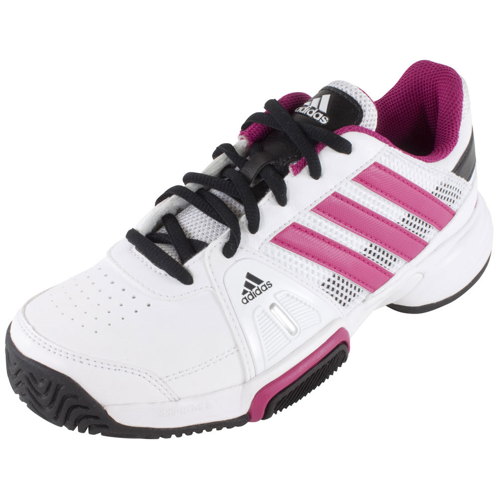 Juniors ` Barricade Team 3 Tennis Shoes Core White And Bold Pink