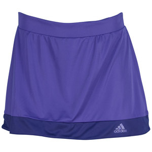adidas WOMENS GALAXY 12IN TNS SKORT POWER PURP