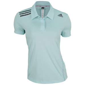adidas WOMENS CLIMACHILL TENNIS POLO FROST MINT
