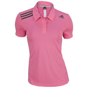 adidas WOMENS CLIMACHILL TENNIS POLO SOLAR PINK