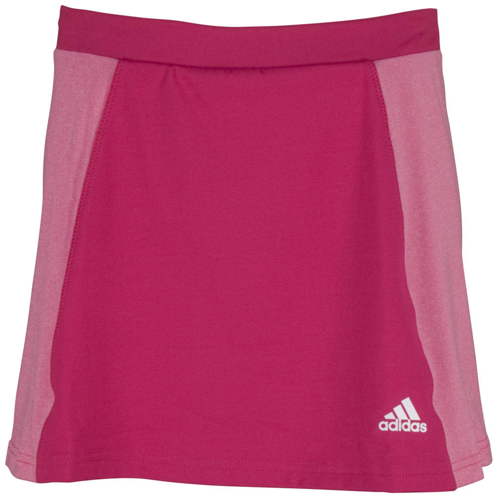 Girls ` Tennis Sequencials Core Skort Bold Pink And Heather Pink