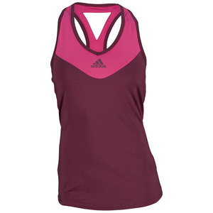 Women`s Response Tennis Tank Amazon Red and Bold Pink