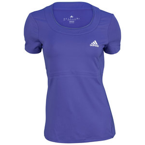 adidas WOMENS ALL PREMIUM TENNIS TEE POWER PURP