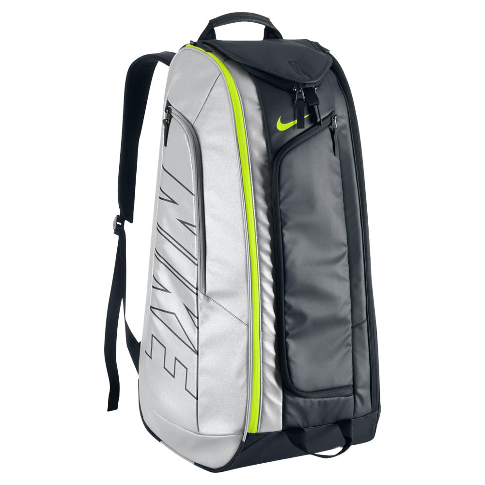 tennis court tech 1 bag black and metallic silver