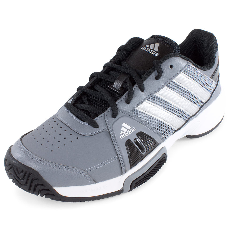 juniors barricade team 3 tennis shoes gray and silver