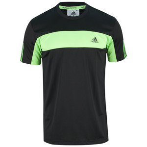 adidas MENS TENNIS SEQUEN GALAXY TEE BK/SOL GN