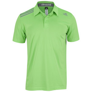 adidas MENS CLIMACHILL TENNIS POLO SOLAR GREEN
