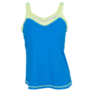SOFIBELLA WOMENS ATHLETIC CAMI TENNIS TOP BB BLUE
