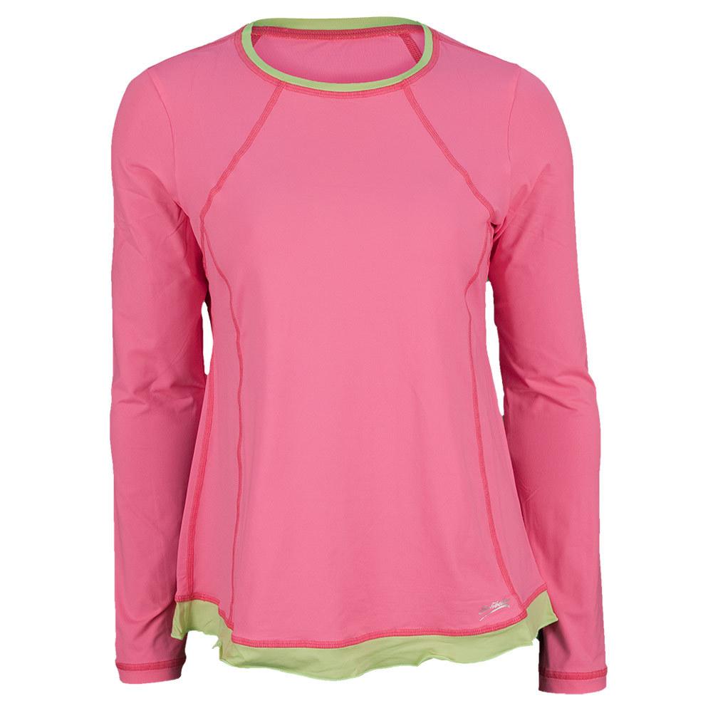 Women's Classic Long Sleeve Tennis Top Sofi Pink