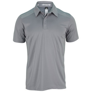 adidas MENS CLIMACHILL TENNIS POLO GRAY