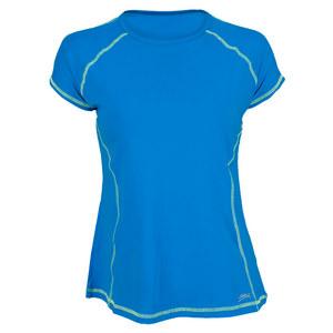 SOFIBELLA WOMENS CLASSIC MOCK SLV TNS TOP BB BLUE