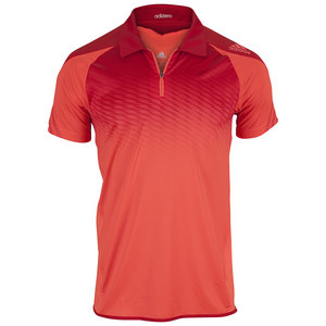 adidas MENS ADIZERO TENNIS POLO SOLAR RED