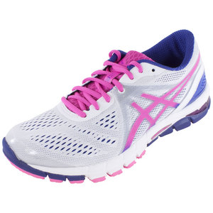 ASICS WOMENS GEL EXCE33 3 RN SHOE WH/HOT PK