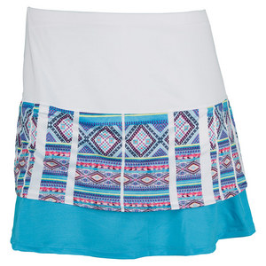 LUCKY IN LOVE WOMENS TALL MAYAN BORDER TNS SKIRT PRINT