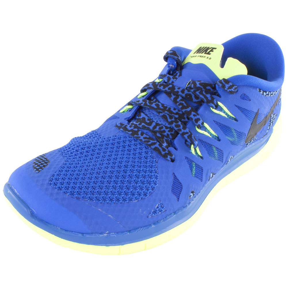 Boys ` Free 5.0 Running Shoes Hyper Cobalt And Midnight Navy