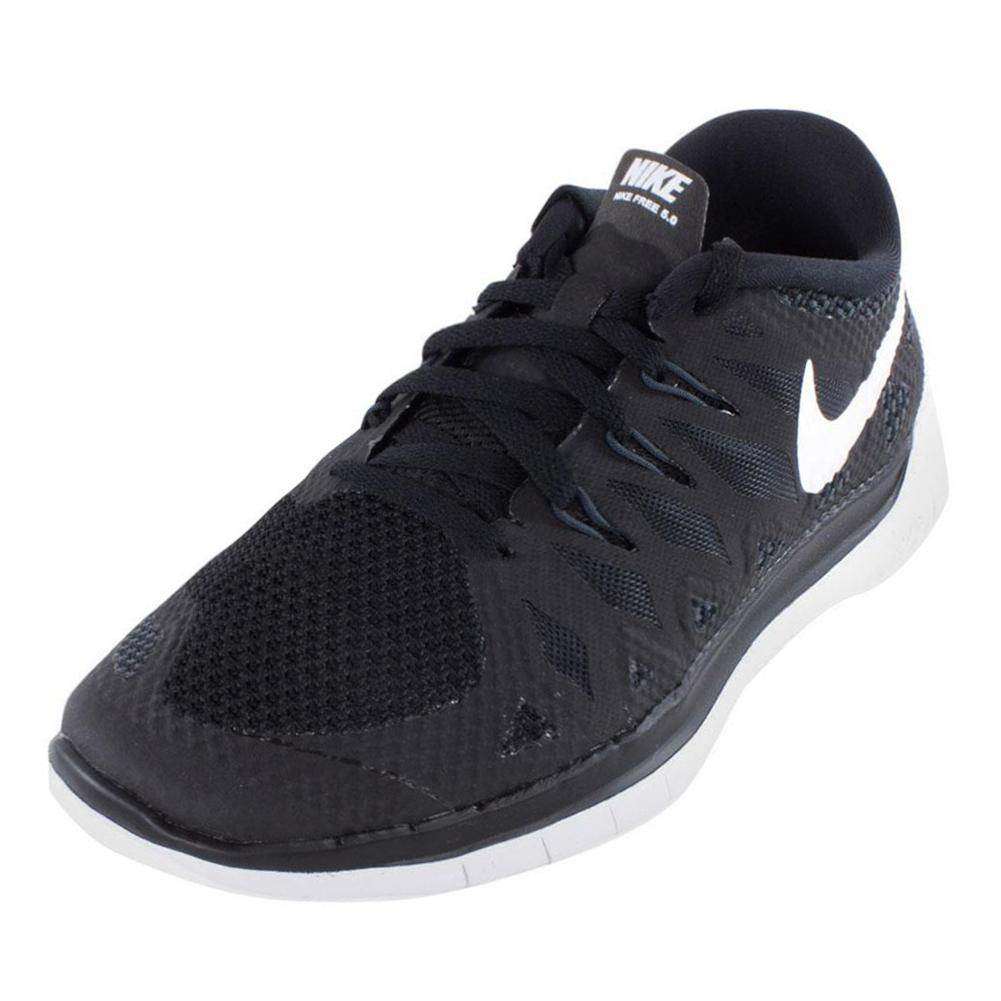 Tennis Express | NIKE Boys` Free 5.0 Running Shoes Black ...