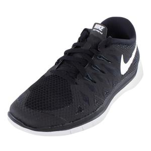 Boys` Free 5.0 Running Shoes Black and Anthracite