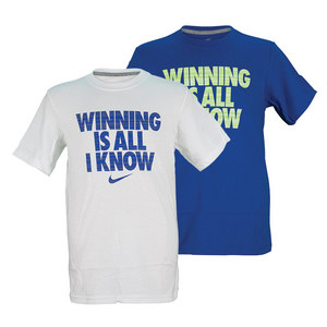 NIKE BOYS WINNING IS ALL I KNOW TEE