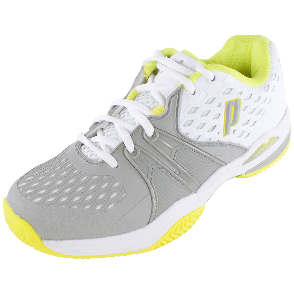 Women's Warrior Clay Tennis Shoes White And Gray