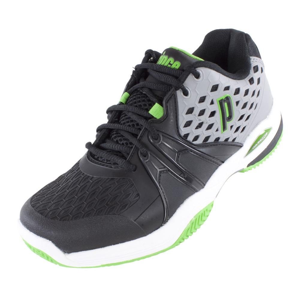Men's Warrior Clay Tennis Shoes Gray And Black