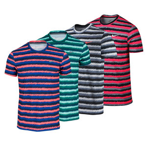 NIKE MENS RALLY SPHERE STRIPE TENNIS CREW