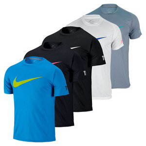 NIKE MENS PRACTICE SHORT SLEEVE TENNIS TOP