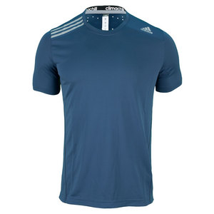 adidas MENS CLIMACHILL SS TENNIS TEE RICH BLUE