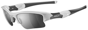 OAKLEY FLAK JACKET XLJ POLISHED WHITE/BLACK IND