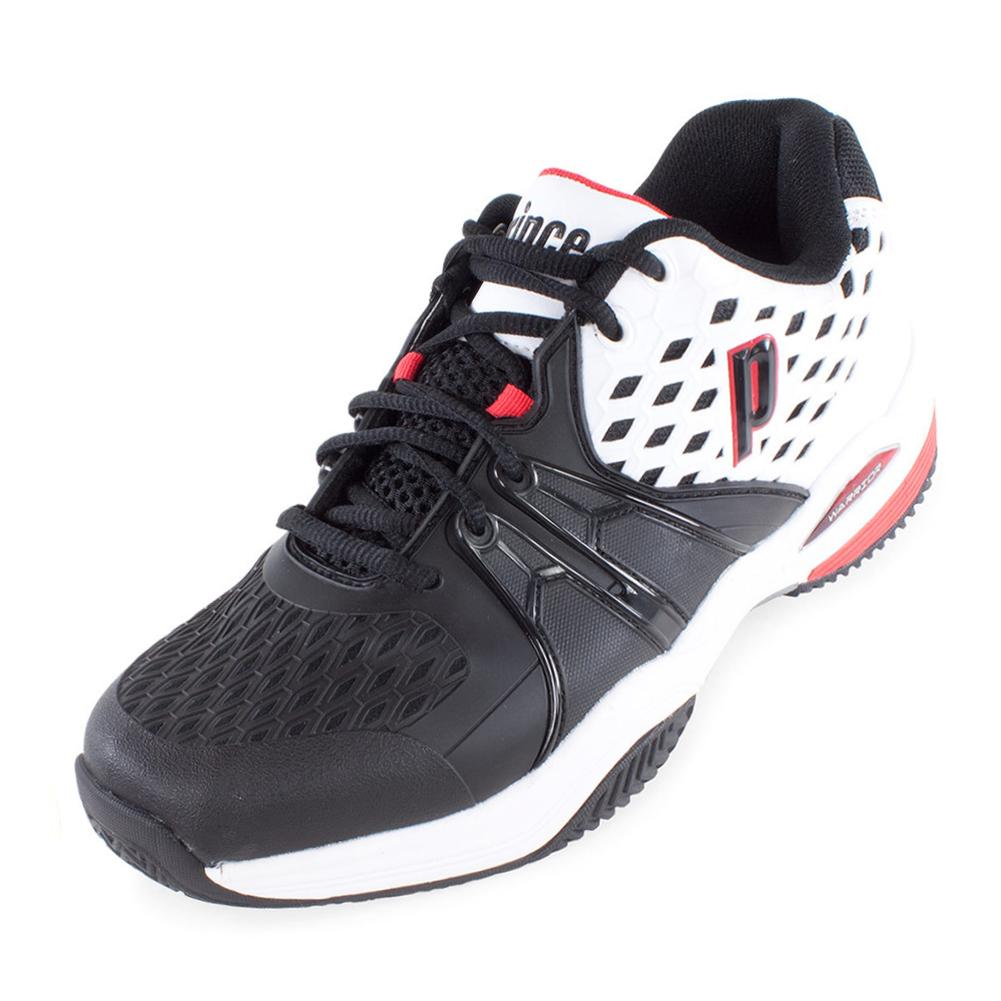 Men's Warrior Clay Tennis Shoes White And Black