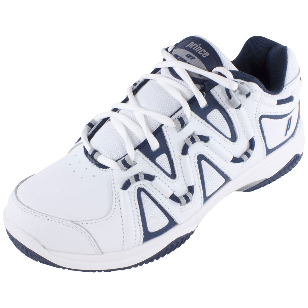 Men's Qt Scream 4 Clay Tennis Shoes White And Navy