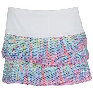 LUCKY IN LOVE WOMENS SEQUIN TENNIS SKIRT PRINT