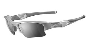 OAKLEY FLAK JACKET POLISHED WHITE W/BLACK IRIDI