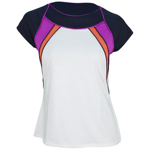 TAIL WOMENS HILLARY CAP SLEEVE TENNIS TOP WH