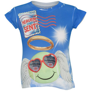 LUCKY IN LOVE GIRLS ANGEL BALL TENNIS TEE PRINT