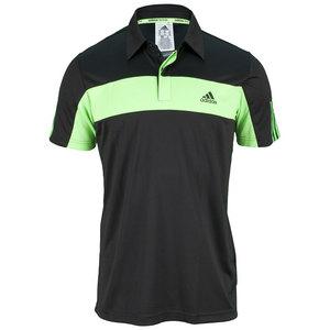 adidas MENS TS GALAXY POLO BLACK/SOLAR GREEN