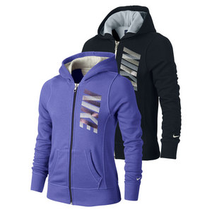 NIKE GIRLS YA76 BRUSHED FLEECE FULL ZIP HOODY