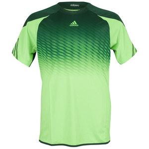 adidas BOYS ADIZERO TENNIS TEE SOLAR GREEN