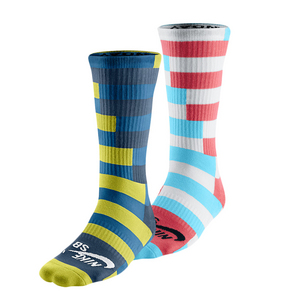 NIKE MENS STRIPED DRI-FIT CREW SOCKS