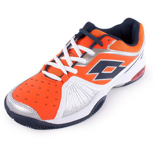 LOTTO MENS VECTOR VI TENNIS SHOES WH/SAMBA