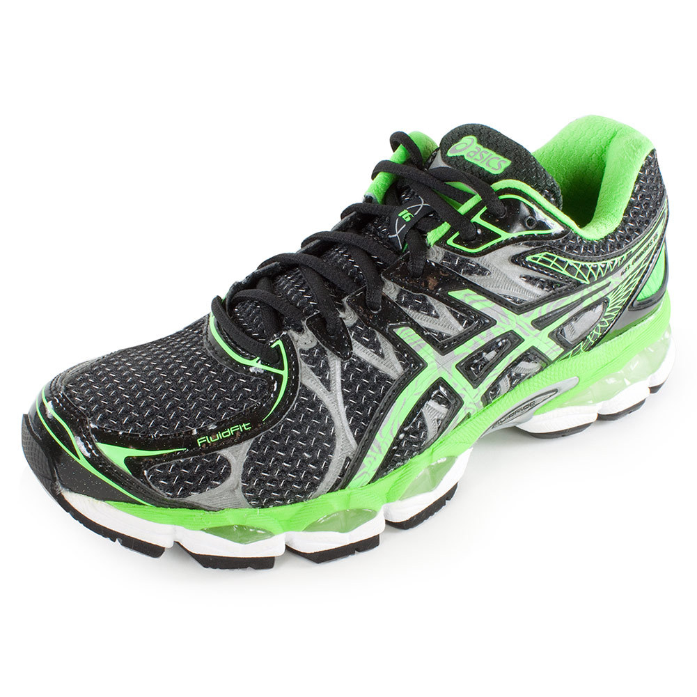 Men's Gel Nimbus 16 Lite Show Running Shoe Black And Apple Green