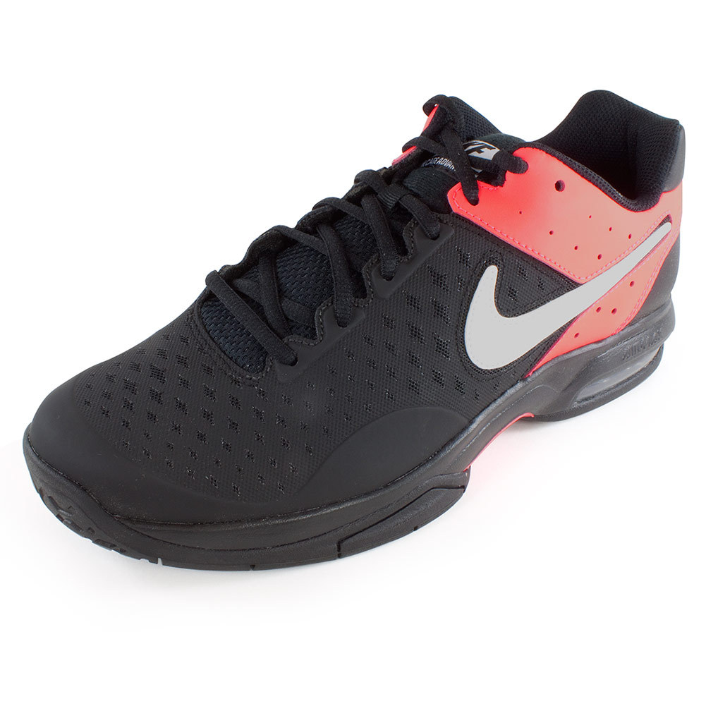 Men's Air Cage Advantage Tennis Shoes Black And Hyper Punch