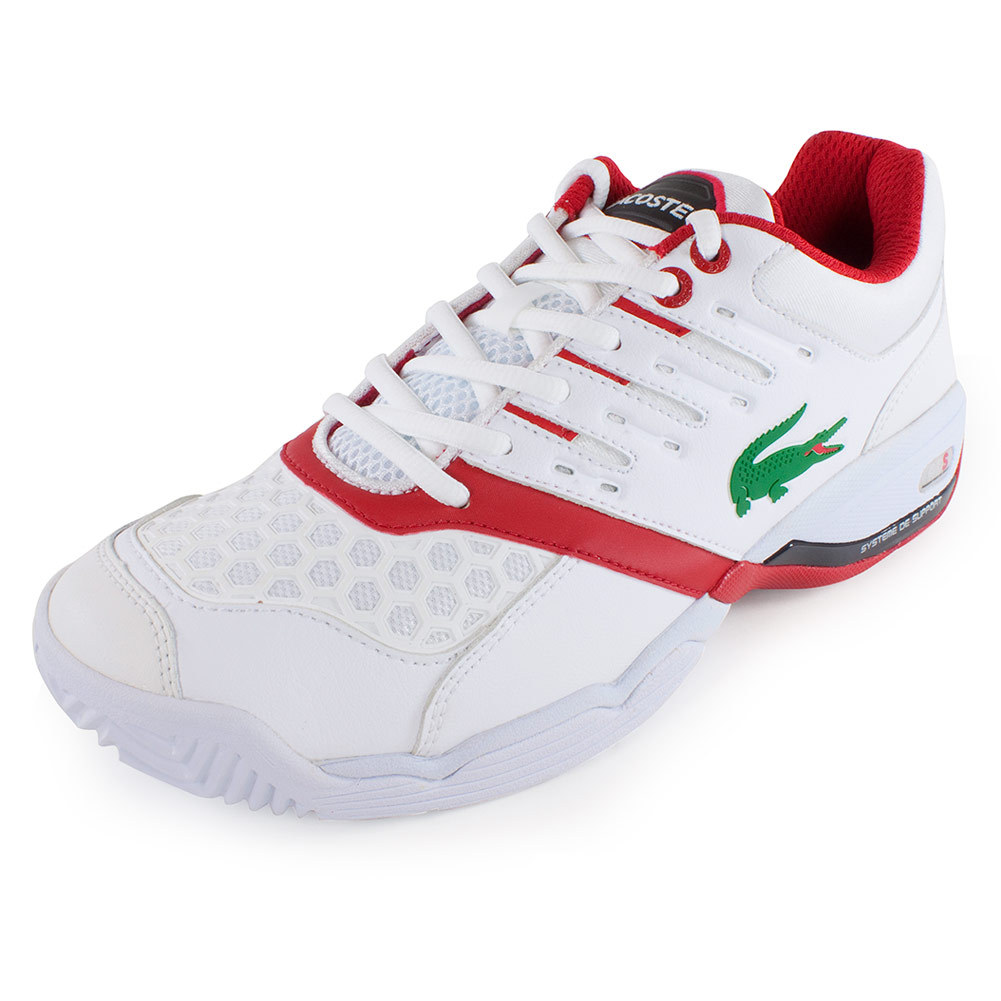 Men's Gravitate Court Tennis Shoes White And Red