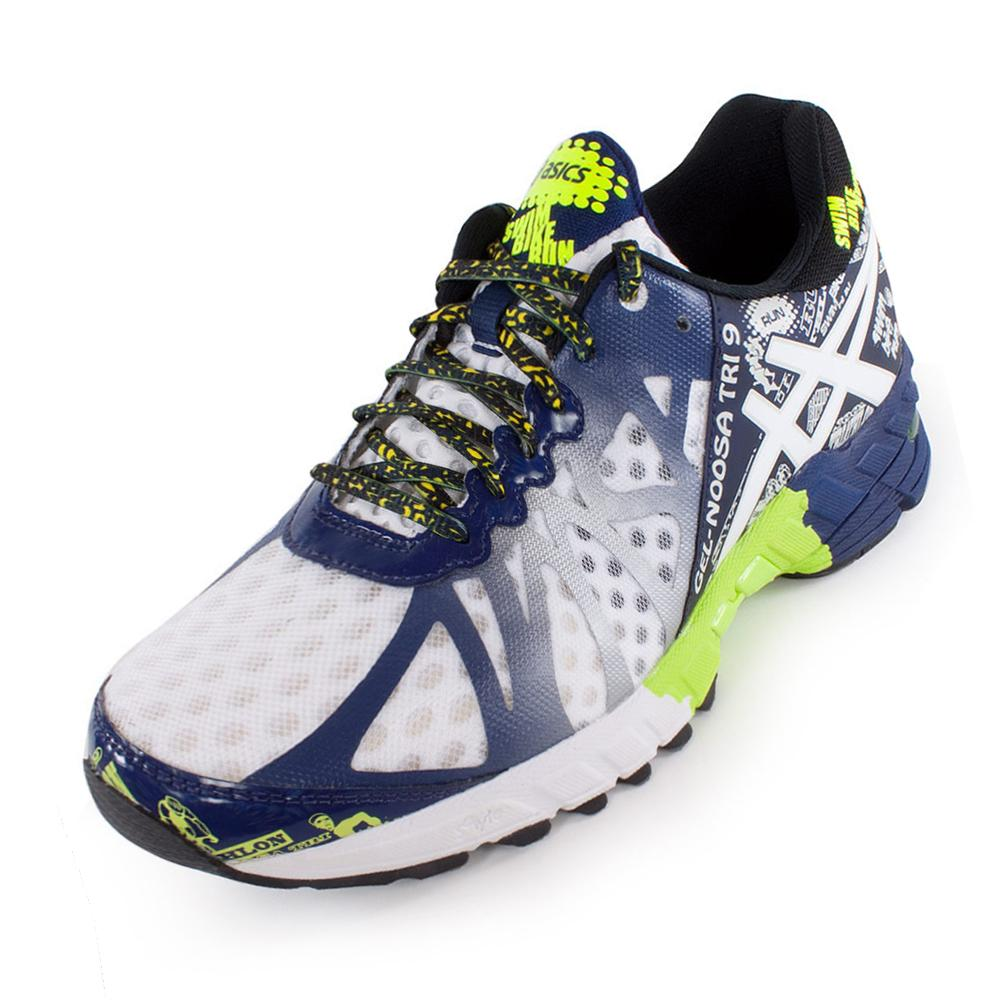 Purchase Mens Asics Gel-noosa Tri 9 - Asics Mens Gel Noosa Tri 9 Running Shoes White And Navy 38210