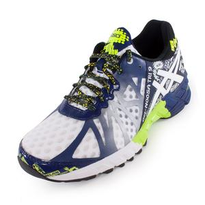 ASICS MENS GEL NOOSA TRI 9 RUN SHOES WH/NAVY