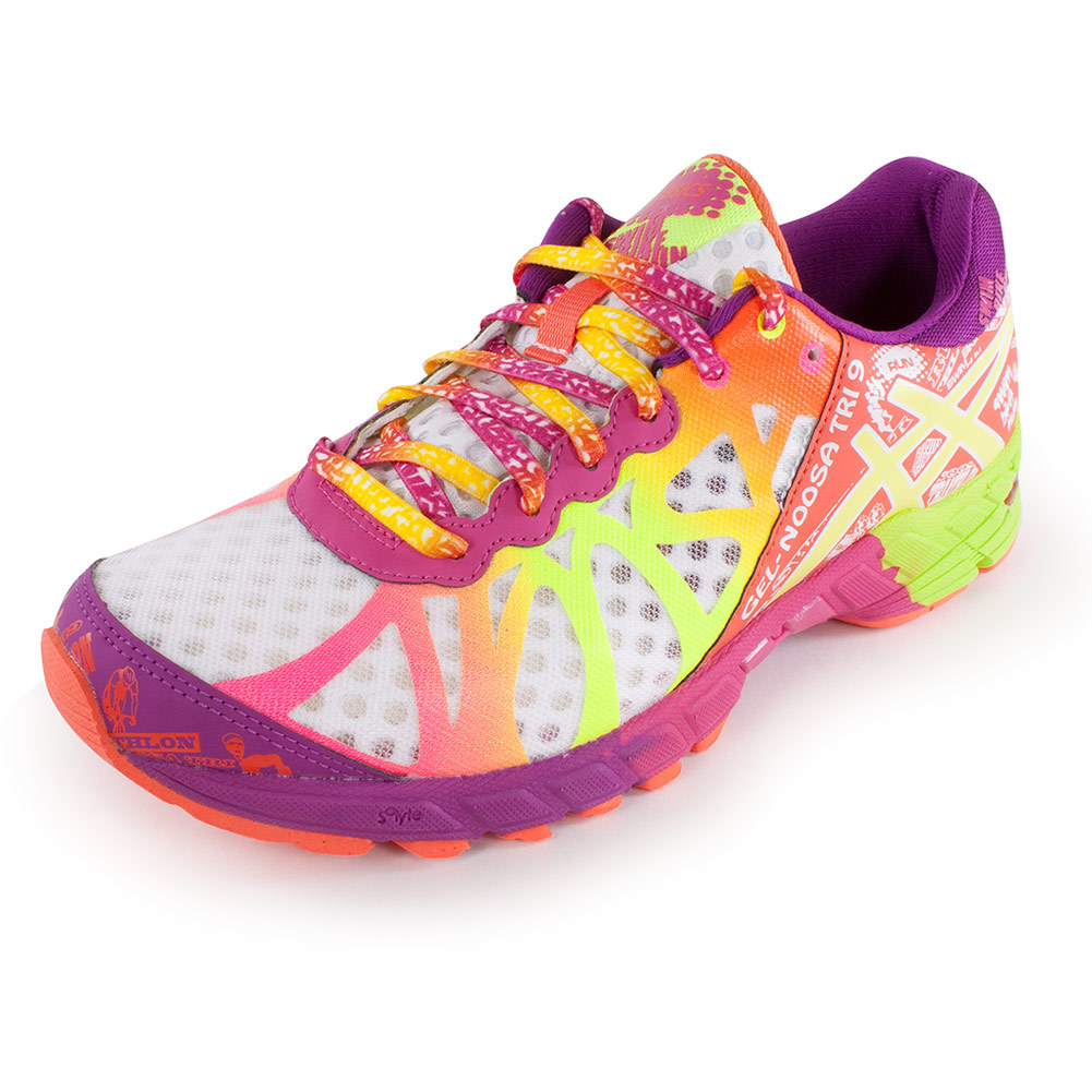 Women's Gel Noosa Tri 9 Running Shoes White And Flash Yellow