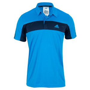 adidas MENS TS GALAXY POLO SOLAR BLUE/COLL NAVY