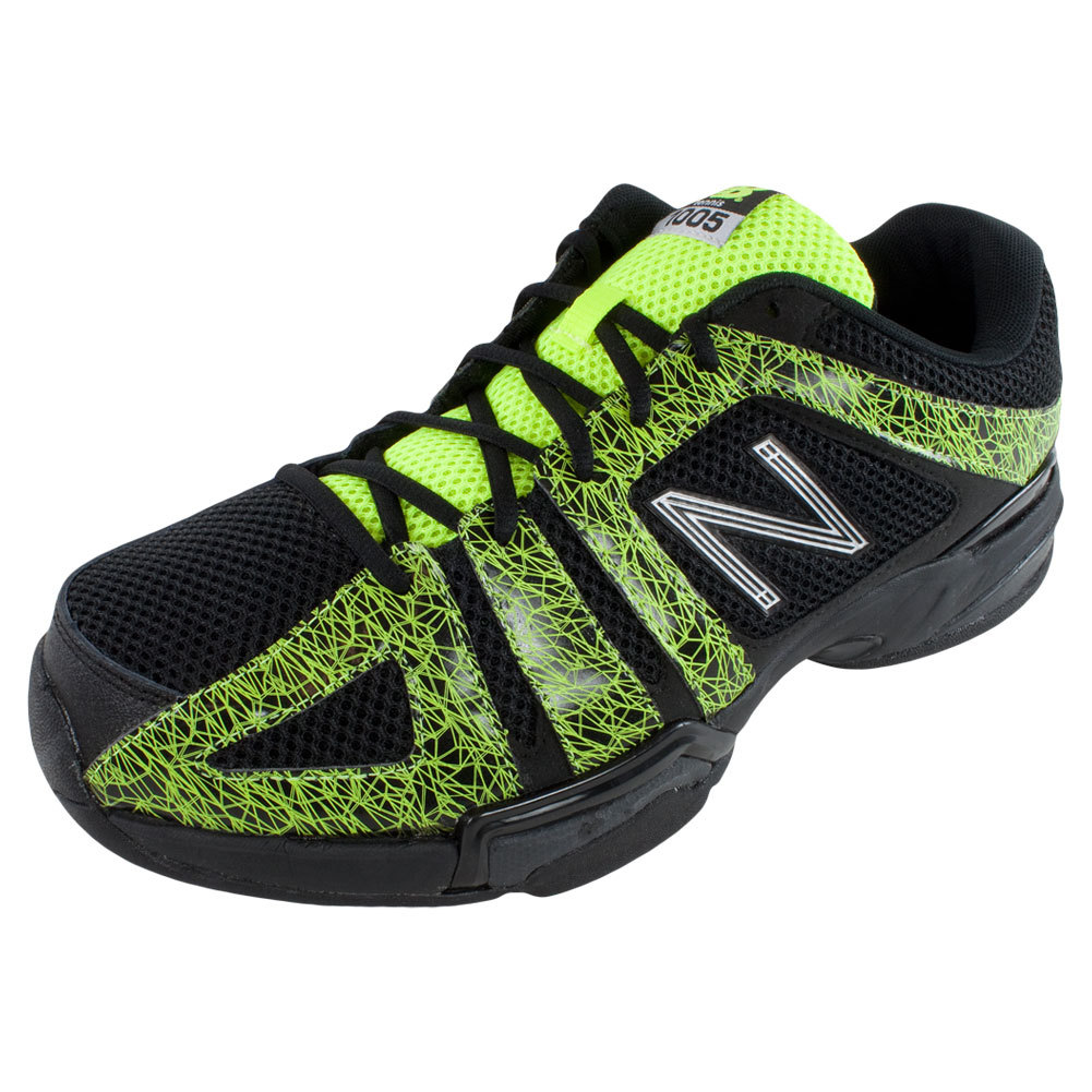 NEW BALANCE Men`s 1005 2E Width Tennis Shoes Black and Yellow