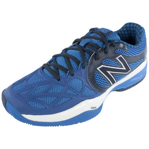 Men`s 996 D Width Tennis Shoes Gray and Blue
