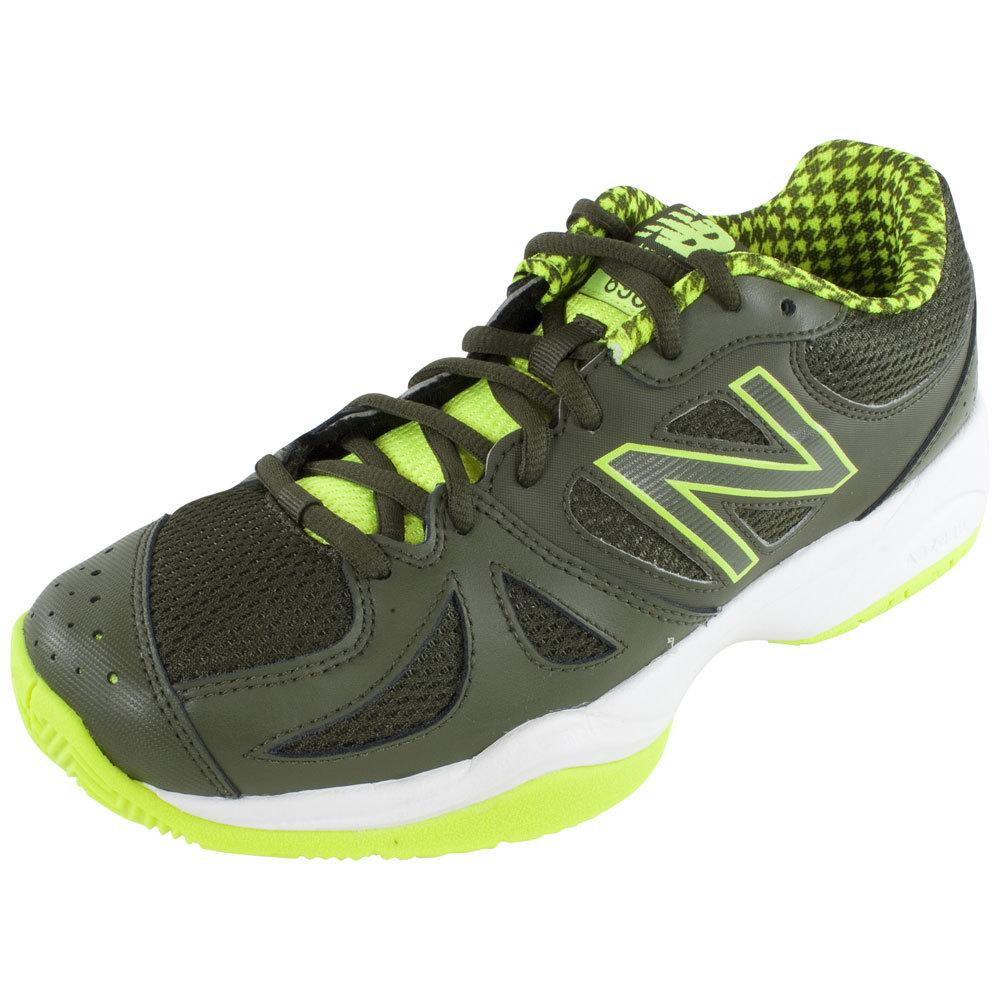 Men's 696 D Width Tennis Shoes Yellow And Combat